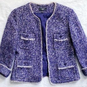 Talbot's Purple Open Blazer
